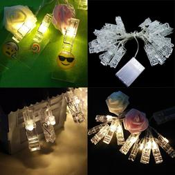 40 LED Photo Clips String Lights Christmas Starry Light Wall