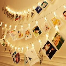 40 LED Photo Clips String Lights Festival Decoration Indoor