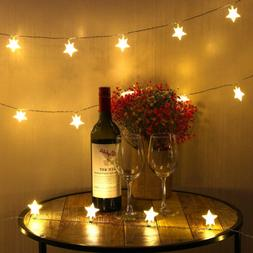 40 LED Star String Christmas Lights Fairy Lights for Christm