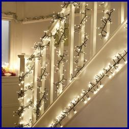 400 LED Twinkle Lights Christmas Cluster 23 Ft W Warm WHITE