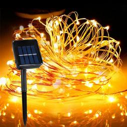 40M 400 Led Solar Power Fairy Light String Lamp Party Xmas D