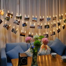 5M 40Photo Clip LED String Light Ceremony Wedding Bedroom Pa
