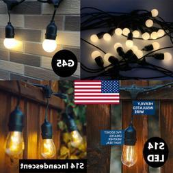 48 Feet Outdoor String Lights Commercial Grade Weatherproof