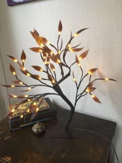 48 LED Brown Leaf Tree Lamp Night Lights Fairy Lights Decor