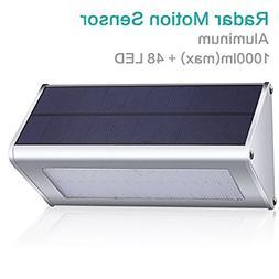 GIARIDE 48 LED 1000 Lumen Outdoor Solar Wall light Radar Mot