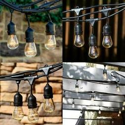 Commercial IP65 Weatherproof Patio String Lights ICOCO 12 Bulbs Outdoor solar String Lights and 14 Ft Extension Cord