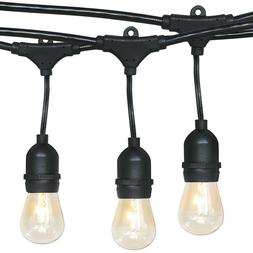 48ft Commercial Weatherproof Café String Lights Dimmable Vi