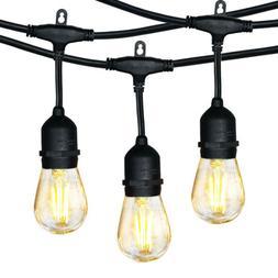 Hykolity 48FT LED Outdoor String Lights for Backyard Porch G