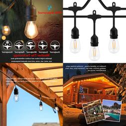 48Ft LED Outdoor String Lights For Patio Garden Yard Deck Ca