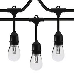 SUNTHIN 48ft LED String of Lights with 15 x E26 Sockets and