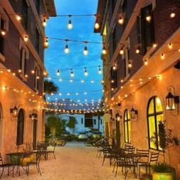 48FT LED Outdoor Waterproof 15 Bulbs Commercial Grade Patio