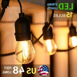 48ft LED OUTDOOR WATERPROOF COMMERCIAL PATIO STRING LIGHTS 1