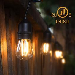 48ft LED String Lights Edison Bulbs15 Hanging S14,2W  for Ou