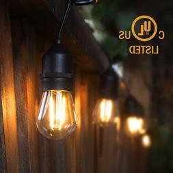 48ft LED String Lights Edison Bulbs15 Hanging S14,2W  for Ou
