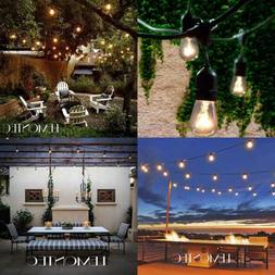 48Ft Outdoor Patio Led Edison String Lights For Café Outsid
