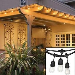 48ft weatherproof outdoor string lights hanging sockets