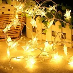 4m 40LED Star Shape String Lights Battery Powered Fairy Part