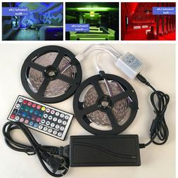 5/10M RGB 5050 LED Strip 300 SMD lights with 44 Key Remote +