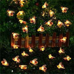 5/7Meter Remote Control Solar Powered 50pc String Lights Bee