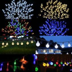 50 100 200 LED Outdoor Solar Powered String Fairy Lights Gar