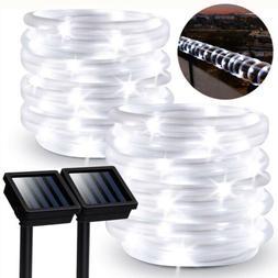 50/100/200LED Outdoor Waterproof Solar Rope String Light Fai