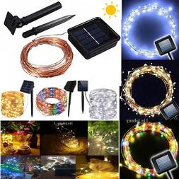 50-200 LED Solar Power Fairy Lights String Lamps Party Xmas