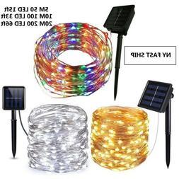 50-200 Led Solar Power Fairy Light String Lamp Party Xmas De