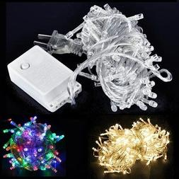 50/80/100/120/200/300/400 LED String Fairy Lights Clear Wire