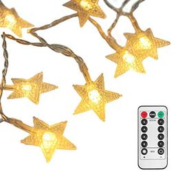 echosari  16 Feet 50 LED Christmas Star LED String Lights wi