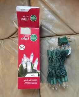 50 CLEAR STRING LIGHTS - ELECTRIC - 13 FT LENGTH - GREEN WIR