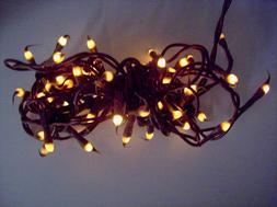 Darice 50-Light Teeny Silicone Bulb Light Set with Brown Cor
