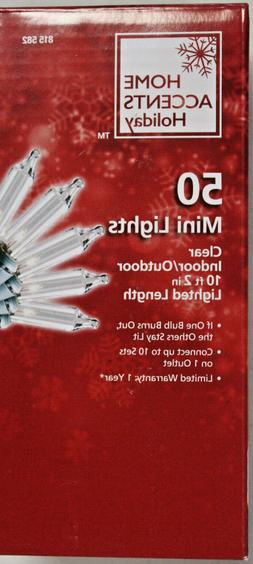 50 Count Clear Mini Christmas / Craft Lights on Green Wire N