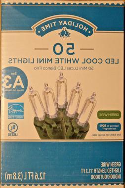 50 Count  Cool White  LED Mini Christmas / Wedding  Lights o