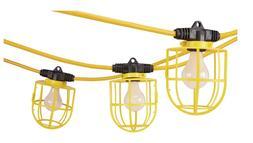 50 Ft. 5 Bulb Jobsite Light String Auto Garage Shop Construc