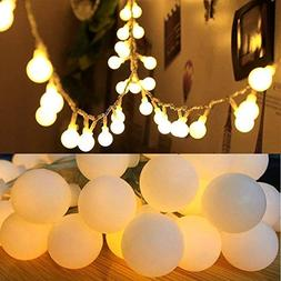 50 LED Globe Fairy Lights, 16 Feet Battery Operated Globe St