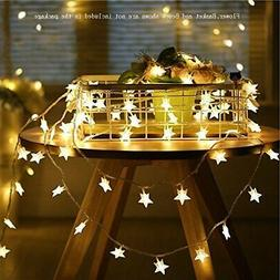 50 LED Home Decor Fairy String Star Lights Wedding Party Out