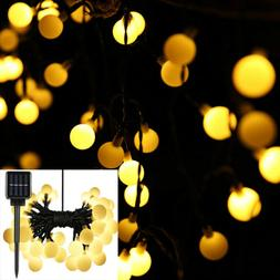 50 LED Solar Light Fairy String Waterproof Outdoor for weddi