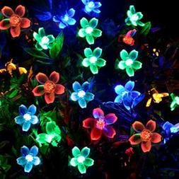 50 LED Solar String Lights 8 Modes Flash Flower Bulbs Outdoo