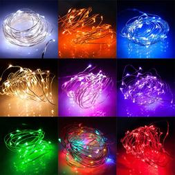 50 LEDs Battery Operated Mini LED Copper Wire String Fairy L