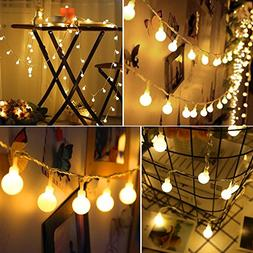 50 Leds 16 Feet Globe String Lights, Battery Operated IP65 W
