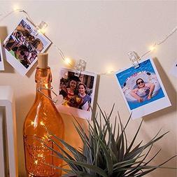 AVInnovations 2 PACK 50 LED Photo Clip Light Strings, 20 Cli