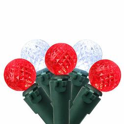 "Brite Star 50 Red & Pure White LED G12 Berry Lights 4"" Bulb"