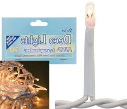 50 Total Bright Indoor Clear Teeny Bulbs Rice Lights String
