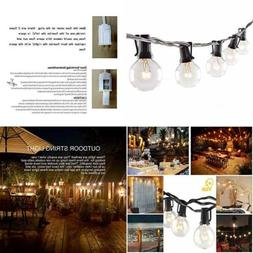 50FT Globe String Lights W 52 Clear Bulbs Bulb For Indoor&Ou