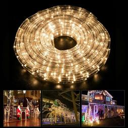 50ft LED Rope Light 2 Wire Dimmable Lighting Home Décor w/