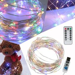 50LED 17ft USB Powered Multi Color Changing String Fairy Lig