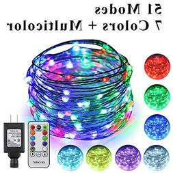 ErChen 51 Modes 7 Colors + Multicolor New LED String Light,