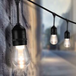 48FT LED Outdoor String Lights 1.5W Edison Bulbs for Garden