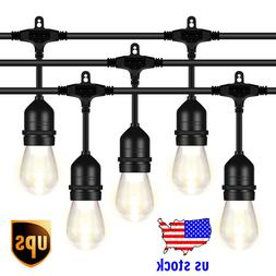 52FT LED Outdoor String Light 1.5W Dimmable Vintage Edison B