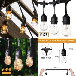 52FT Outdoor String Lights Commercial Grade Weatherproof Yar